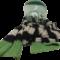 Turriklæðið_svart, grátt og grønt